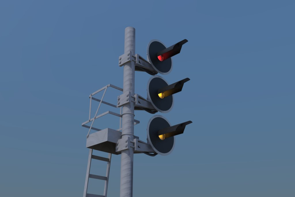 italian railway signaling fs 3d model