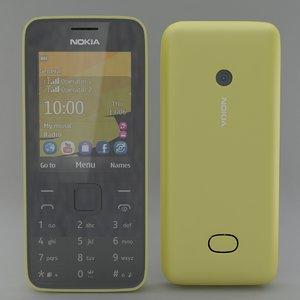 3d nokia 208 model