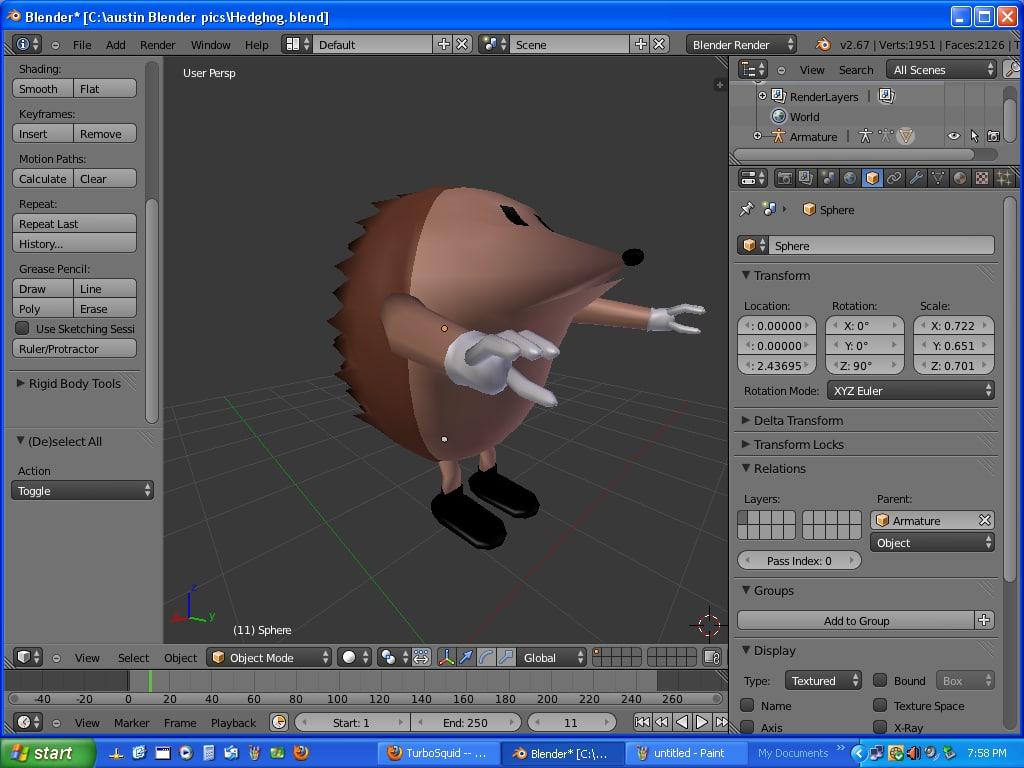 hedgehog 3d model