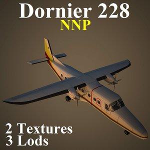 dornier 228 nnp aircraft 3d model