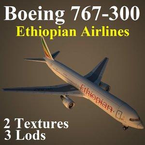 3d model boeing 767-300 eth