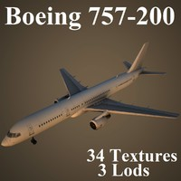 boeing 757-200 3d model