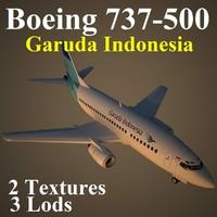 3d model boeing 737-500 gia