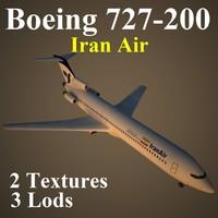 3d boeing 727-200 ira