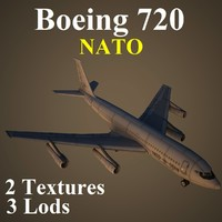 3d ma boeing 720 nat