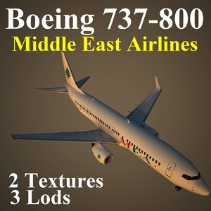 boeing 737-800 mea 3d max