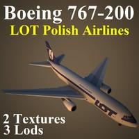 3d boeing 767-200 lot