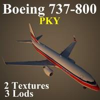 boeing 737-800 pky 3d model