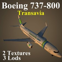 boeing 737-800 tra 3d model