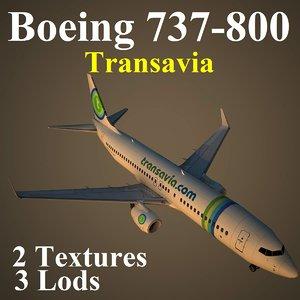 boeing 737-800 tra 3d model