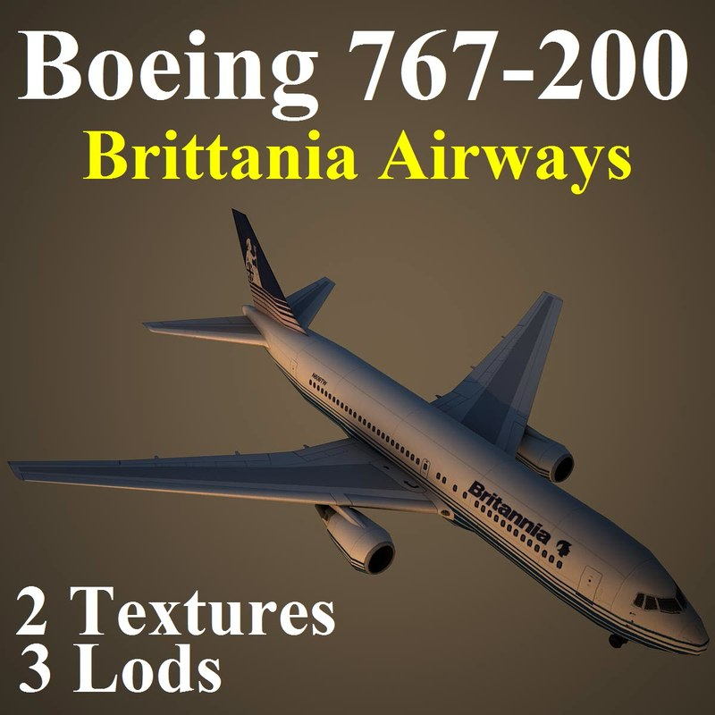 boeing 767-200 bal 3d max