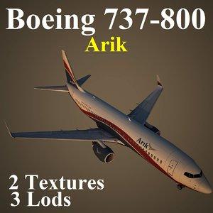 boeing 737-800 ara 3d model