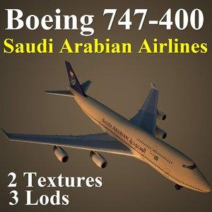 3d boeing 747-400 sva model