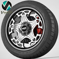 3d wheel moto metal model