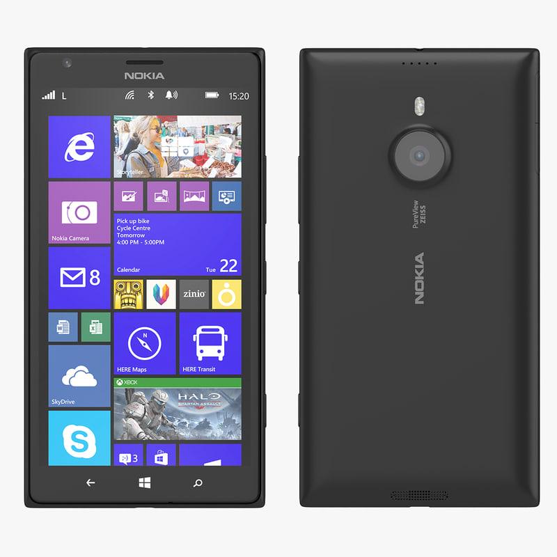 3d 3ds nokia lumia 1520 phablet