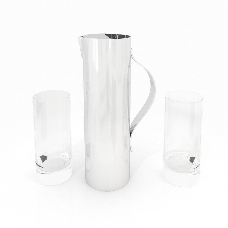 3d model pitcher bar