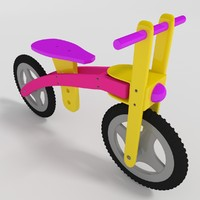 free 3ds model kids bicycle