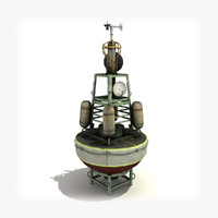 3d weather buoy model