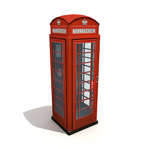 english phonebooth 3d model