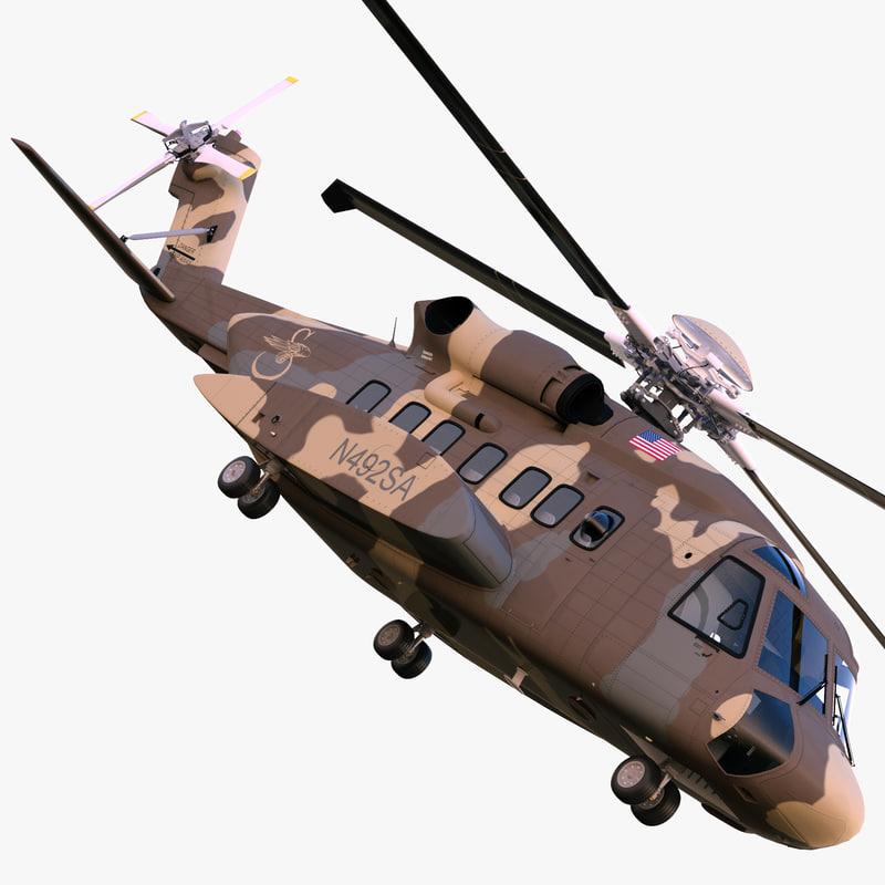 3d model sikorsky h-92 superhawk