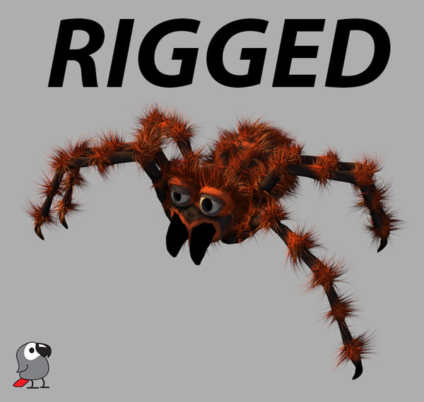3d cartoon spider