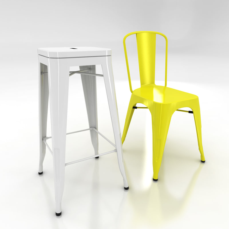 3d xavier pauchard tolix chair stool