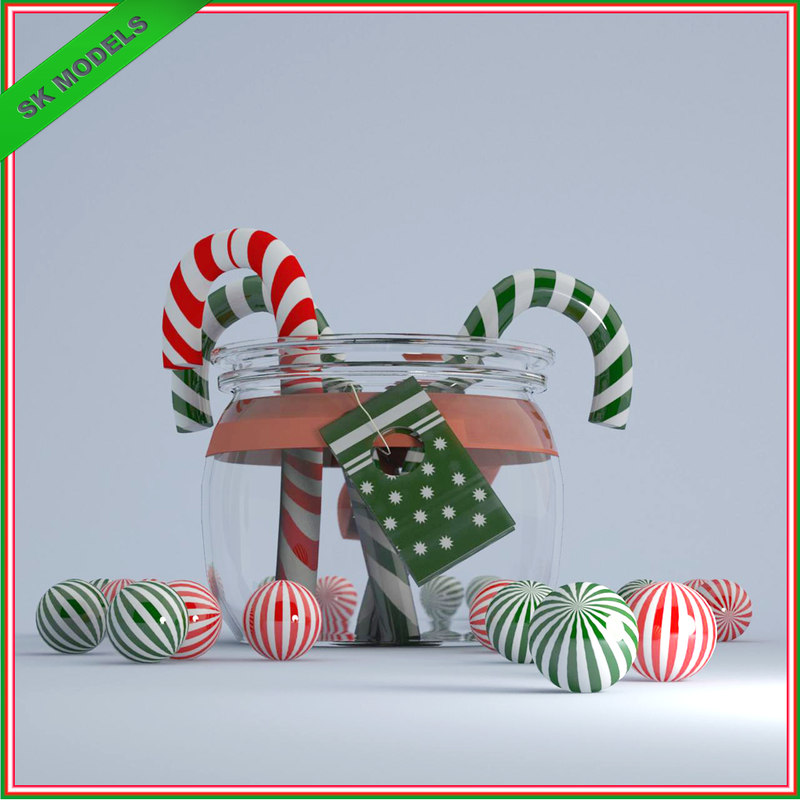 max christmas candy jar