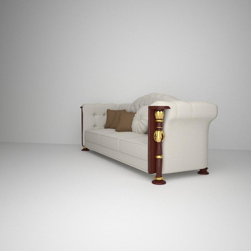 3d decorative sofa model