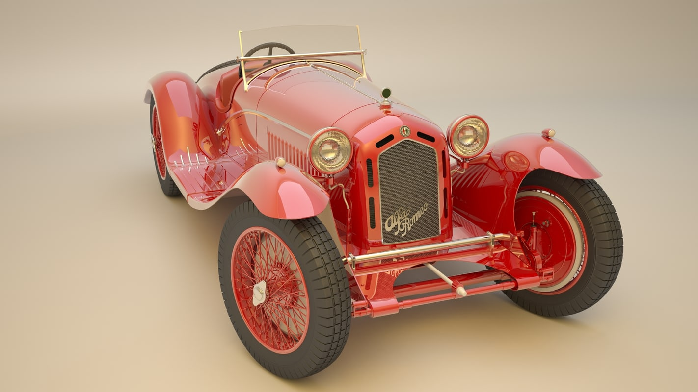 3d romeo antique model