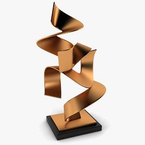 3d henley brass sculpture model