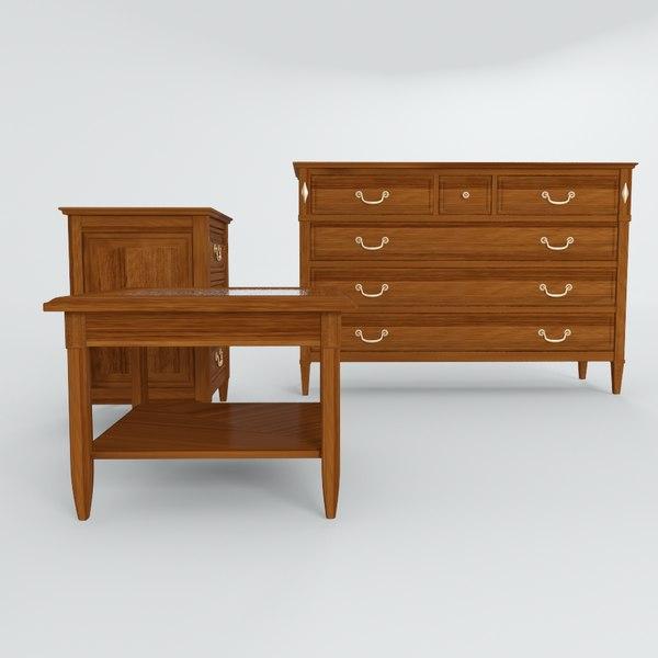belle helene - meubles 3d model
