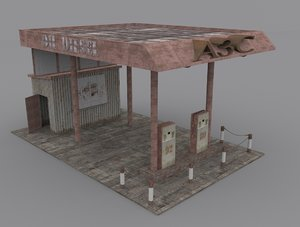 3ds max old gas stations