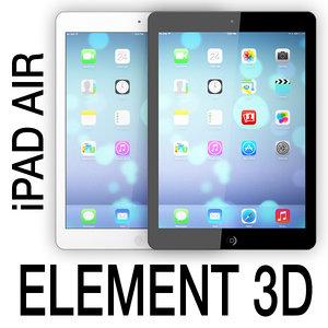 apple ipad air element 3d 3ds