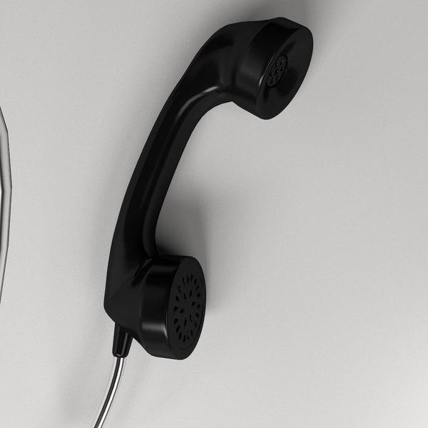 telephone le 3d model