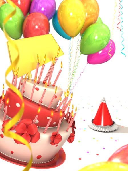 Awesome Birthday Cake Balloons Obj Funny Birthday Cards Online Alyptdamsfinfo