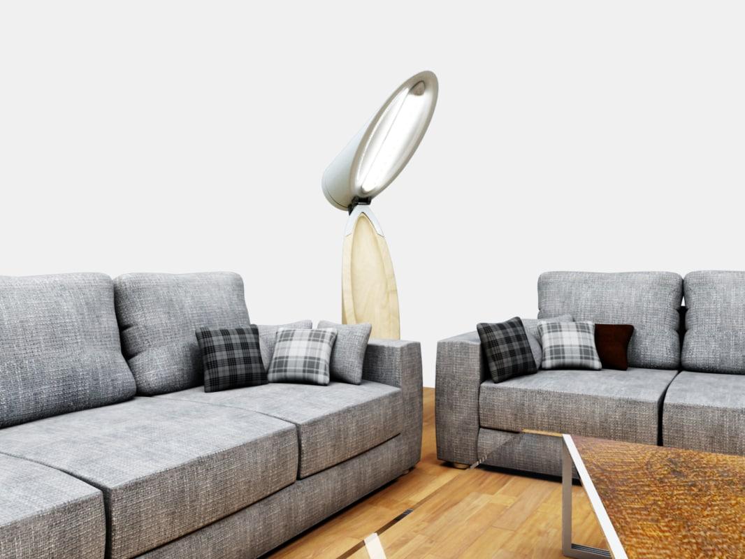 3d sofa coffee table