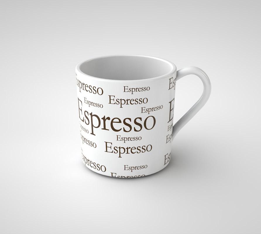 3d model espresso cup coffee