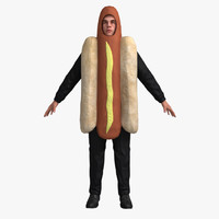 Hotdog Suit (Not Rigged)