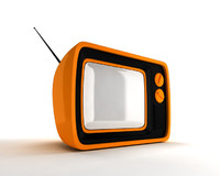 Retro portable TV