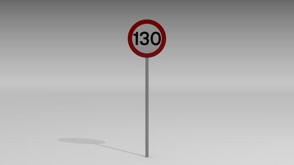 maya 130 speed limit sign