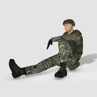 3d man male human model