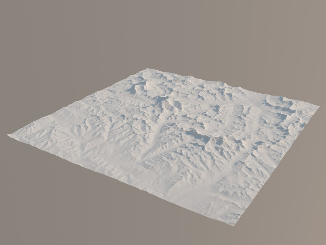 topology mount everest 3d max