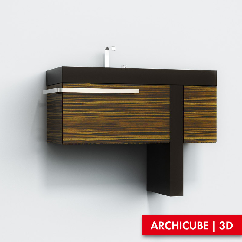 3ds max cabinet basin