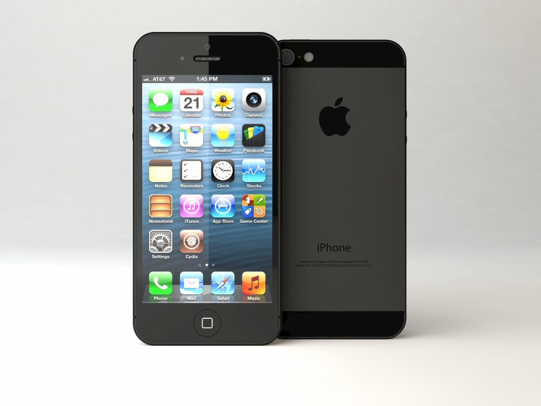 3d apple iphone 5 model