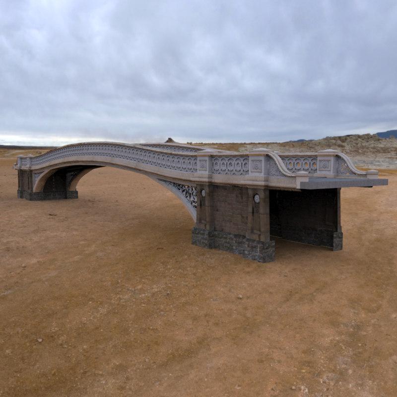bow bridge obj