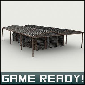 3d 3ds slums building