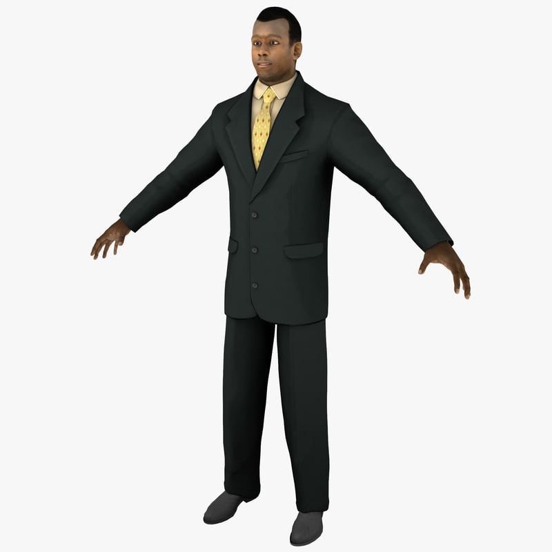 3d businessman 4 man model