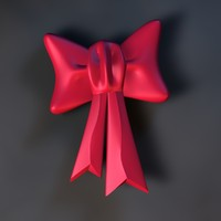 Big Red Cartoon Bow