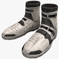futuristic soldier armored boots 3d model
