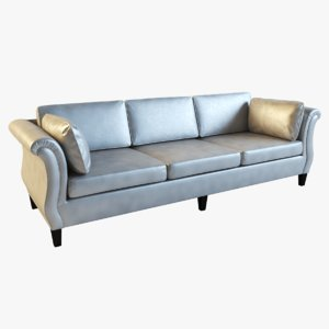 sofa scroll arm design 3d model
